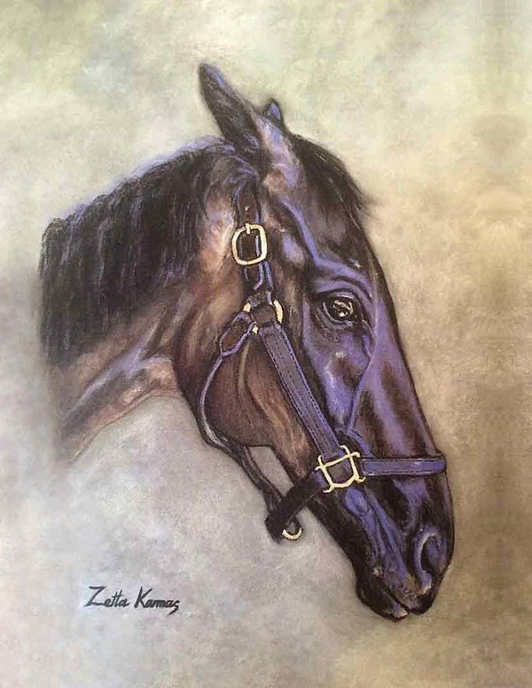 thoroughbred‑oil‑on‑canvas